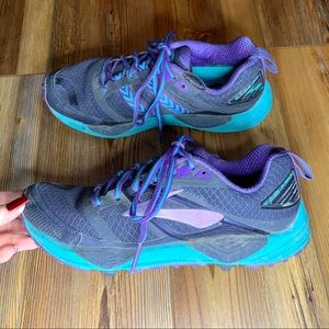 Brooks woman's purple and blue running shoes